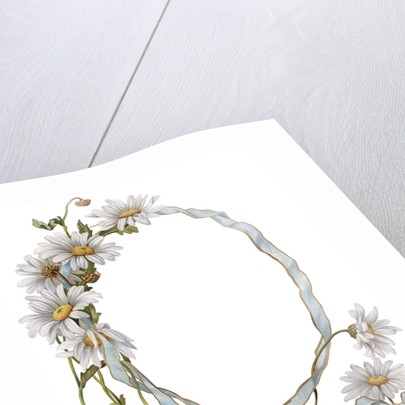 Illustration of Daisy Border with Ribbon by Corbis