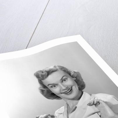 1950s Portrait Of Proud Woman by Corbis