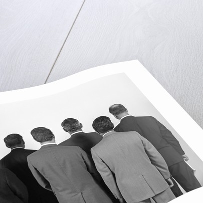 1960s Backview Of Six Business Men by Corbis