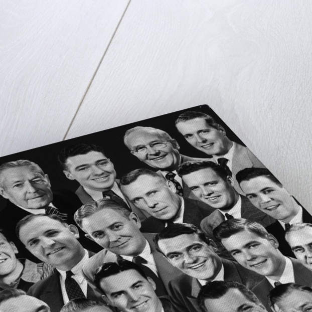 1950s 1960s Montage Of 29 Men's Heads All Are Smiling by Corbis