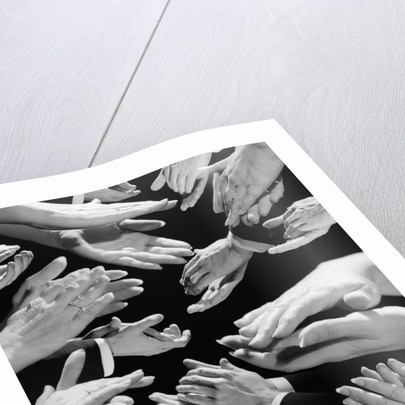 1950s Montage Of Many Man And Woman Hands Clapping by Corbis