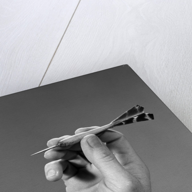 1960s 1970s Hand Close-Up Holding About To Throw A Sharp Pointed Dart by Corbis