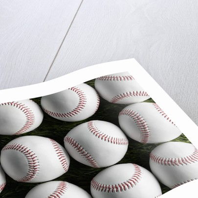 Baseballs in Rows by Corbis