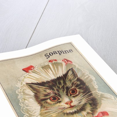 Soapine Trade Card with Kitten in Baby Clothes by Corbis