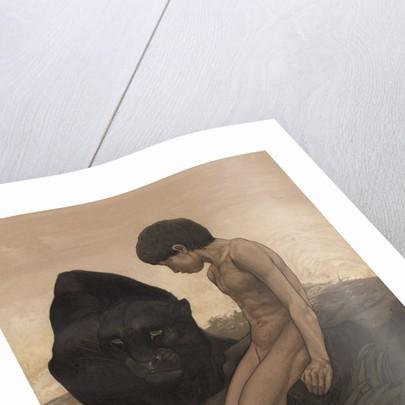 Mowgli and Bagheera by Edward Julius Detmold