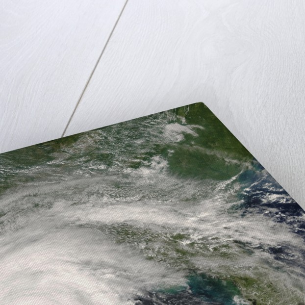 Hurricane Gustav Making Landfall on Louisiana Coastline by Corbis