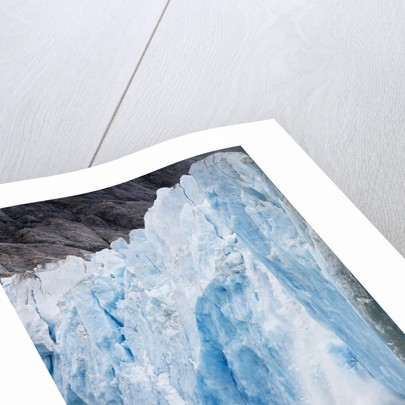 Icebergs Calving from Dawes Glacier in Alaska by Corbis