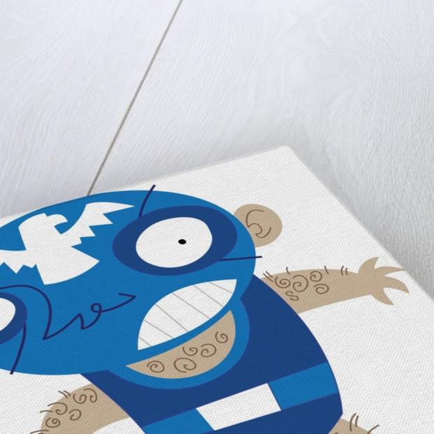 Blue Wrestler by Corbis