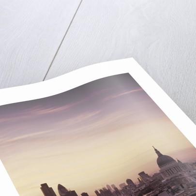 Dusk over London skyline by Corbis