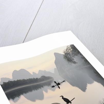 Cormorant fishermen in Li River by Corbis