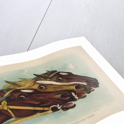 Head and Head at the Winning Post by Currier & Ives