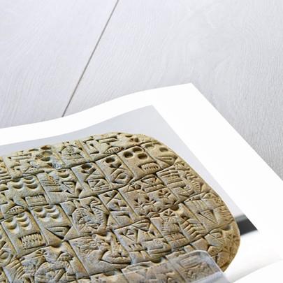 Sumerian contract written in pre-cuneiform script by Corbis