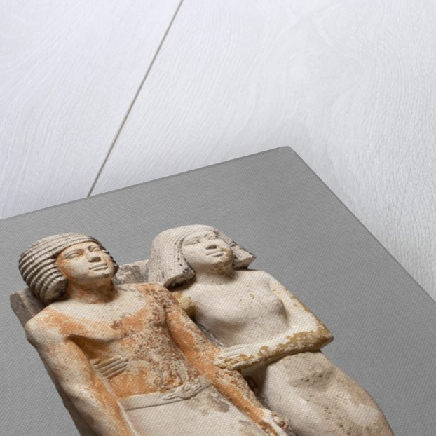 Egyptian Fifth Dynasty statue of Kapuptah and his wife by Corbis