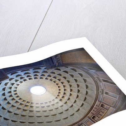 Interior of the dome on the Pantheon in Rome by Corbis