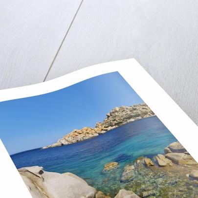 Rocky coastline at Capo Testo by Corbis