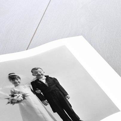 Children groom bride wedding by Corbis