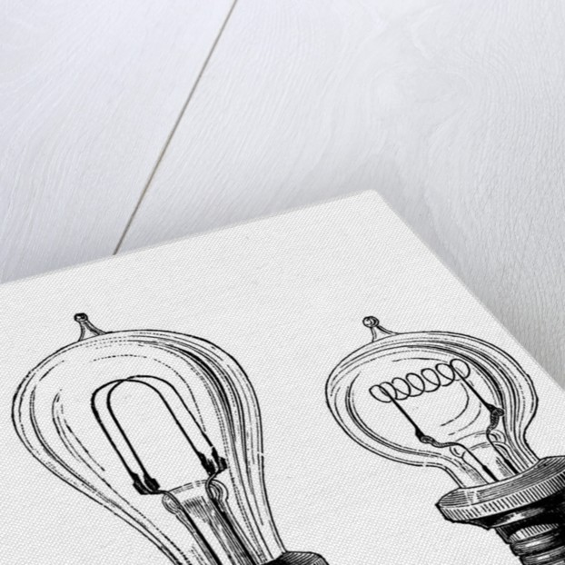 Edison's incandescent lamps by Corbis