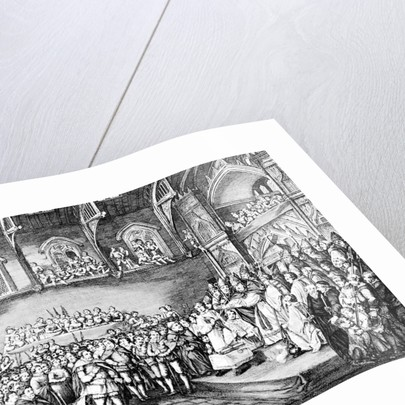 Henry III renewing the Magna Carta in 1253 by Corbis