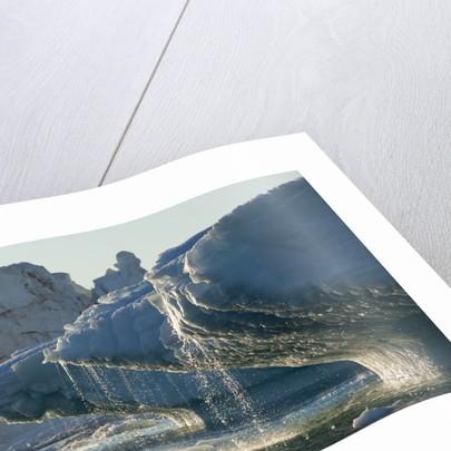 Iceberg melting in Disko Bay in Greenland by Corbis