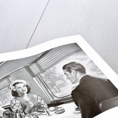 Image from a publicity booklet for The Jeffersonian, a de-luxe streamliner by Corbis