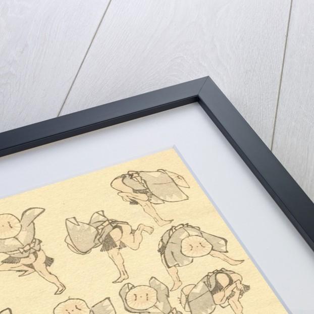 Men dancing by Katsushika Hokusai