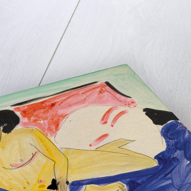 Seated Nude on Divan by Ernst Ludwig Kirchner