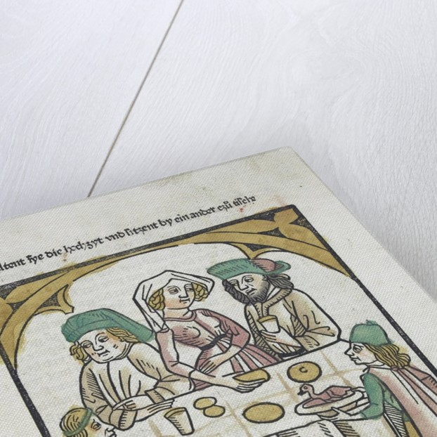 Woodcut illustration from Medieval book by Corbis
