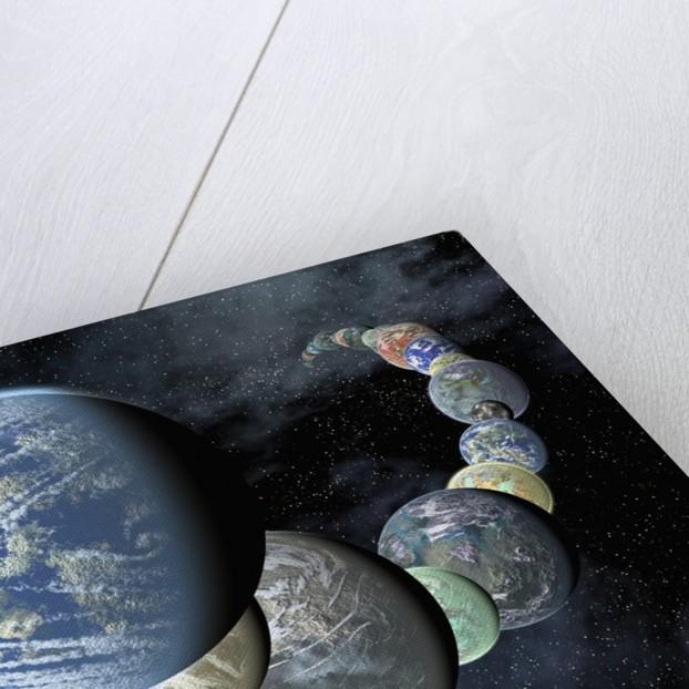 Artist's Conception of Rocky, Terrestrial Worlds by Corbis
