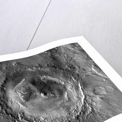 Gale Crater: Landing Site of Mars Rover Curiosity by Corbis