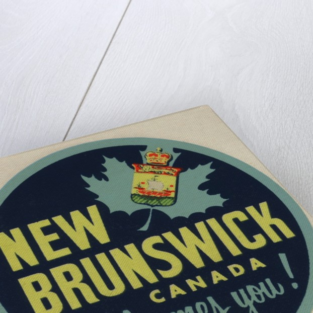New Brunswick Canada Welcomes You! travel decal by Corbis