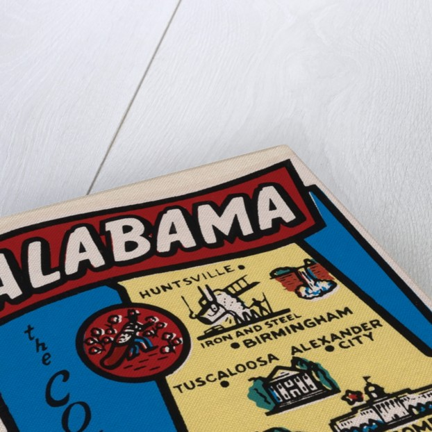 Alabama travel decal by Corbis