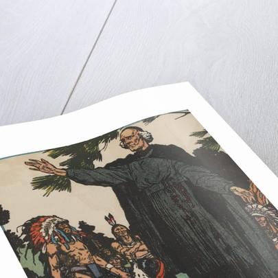 Jacques Marquette with Native Americans by Corbis
