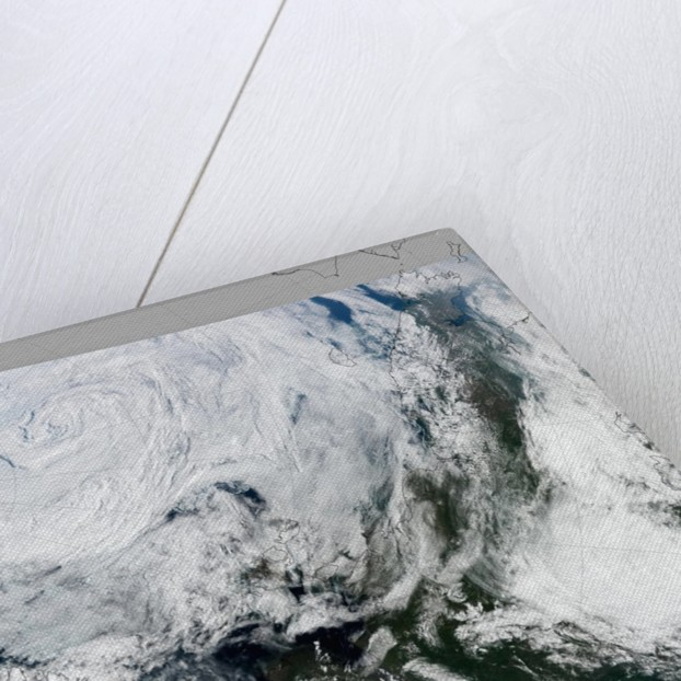 Strong Summer Cyclone Churns Over the Arctic Ocean by Corbis