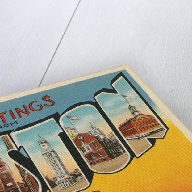 Greetings from Boston, Massachusetts by Corbis