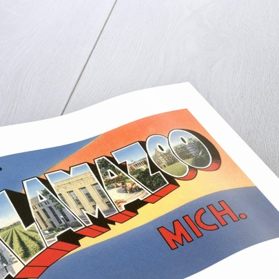 Greetings from Kalamazoo, Michigan by Corbis