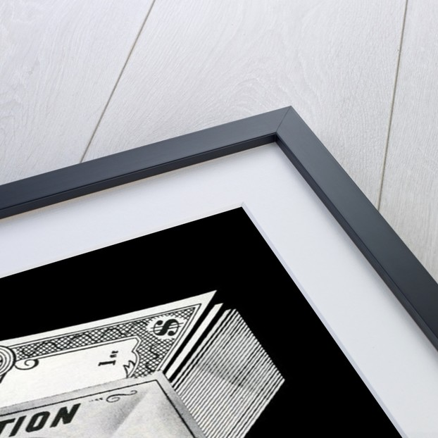 Stack of locked money labeled Corporation Surplus by Corbis