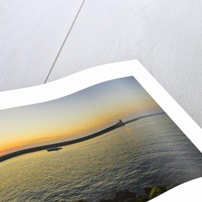 Entrance of port -at sunset, Ischia Porto, Ischia, Campania, Italy by Corbis