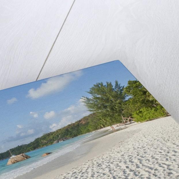 View of Anse Lazio beach, Grand Anse, Praslin Island, Seychelles by Corbis