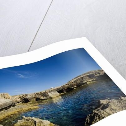 Rocky landscape near Fungus Rock, Dwejra, Gozo, Malta by Corbis