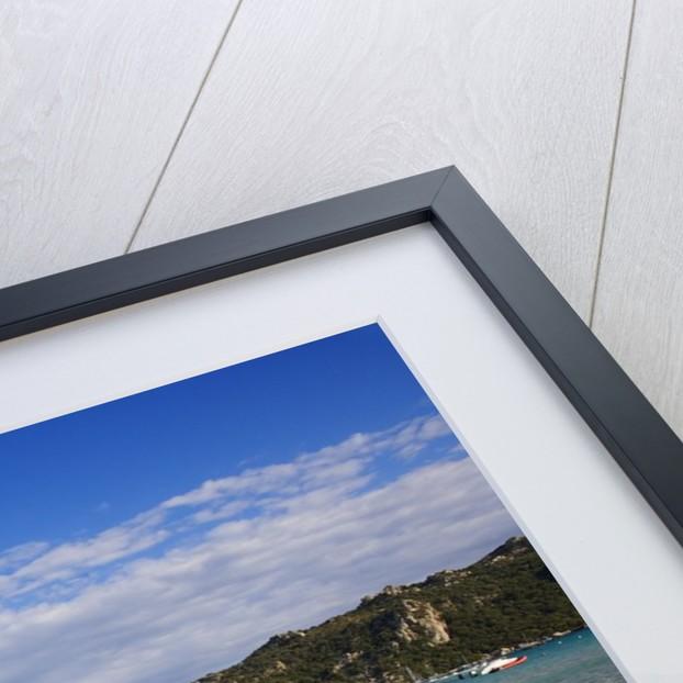View of Santa Giulia bay, Corsica, France by Corbis