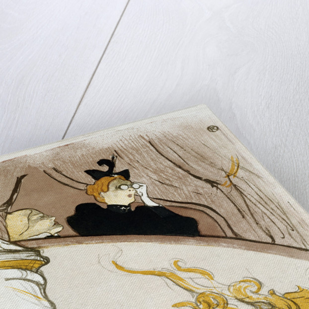 The Box at the Mascaron Dore by Henri de Toulouse-Lautrec