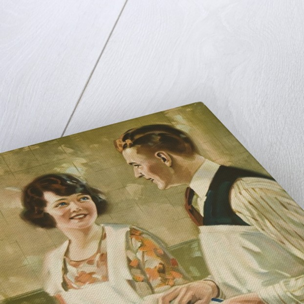 1920s American Banking Poster Thrift Makes Smiles by Corbis