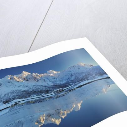 Frosty mountains at Austnesfjorden by Corbis