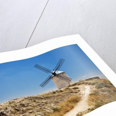 Antique La Mancha windmills in Consuegra, Spain by Corbis