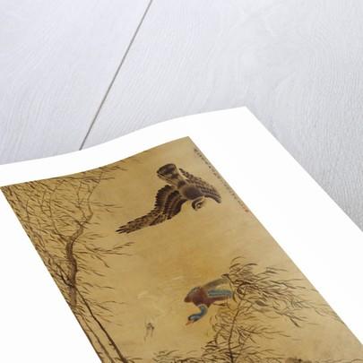 Falcon Hunting Prey by Hua Yan