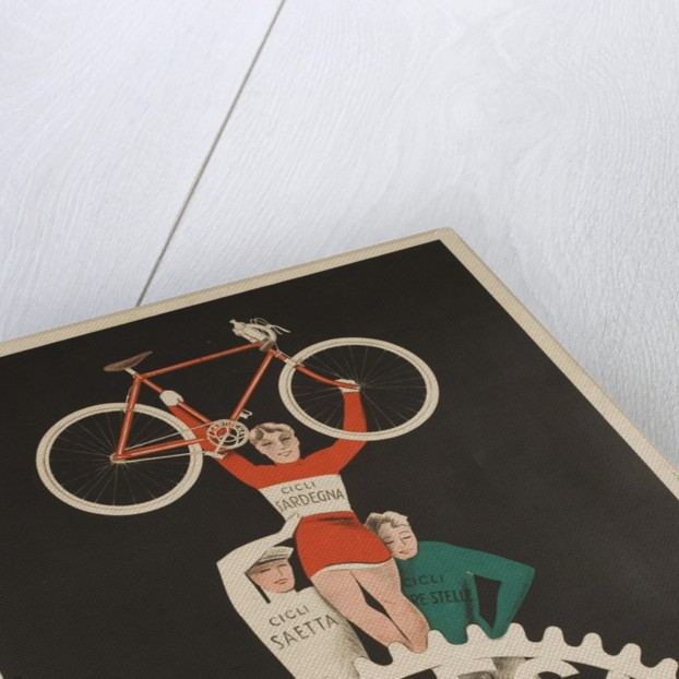 Bicycles Cossu Sardegna, Italian Advertising Poster by Corbis