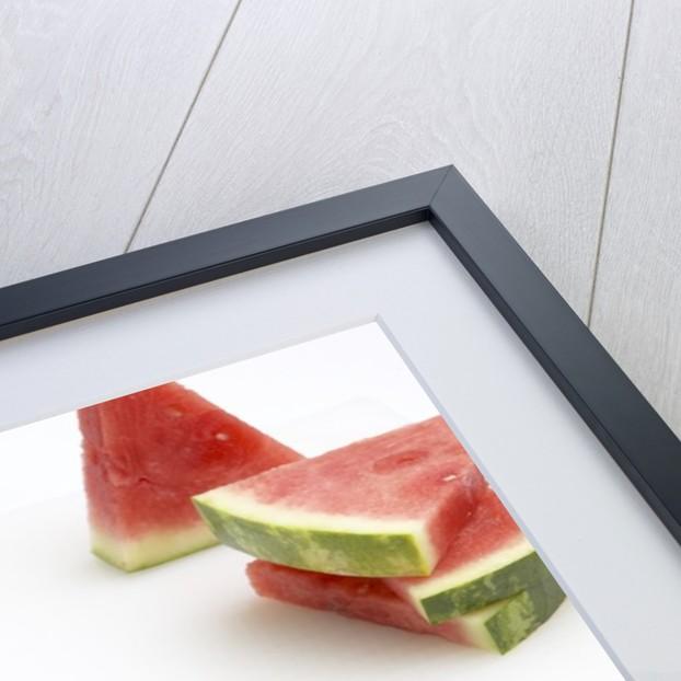 Watermelon wedges by Corbis