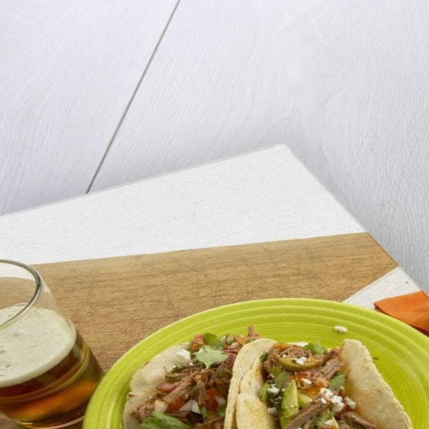 Beef tacos by Corbis