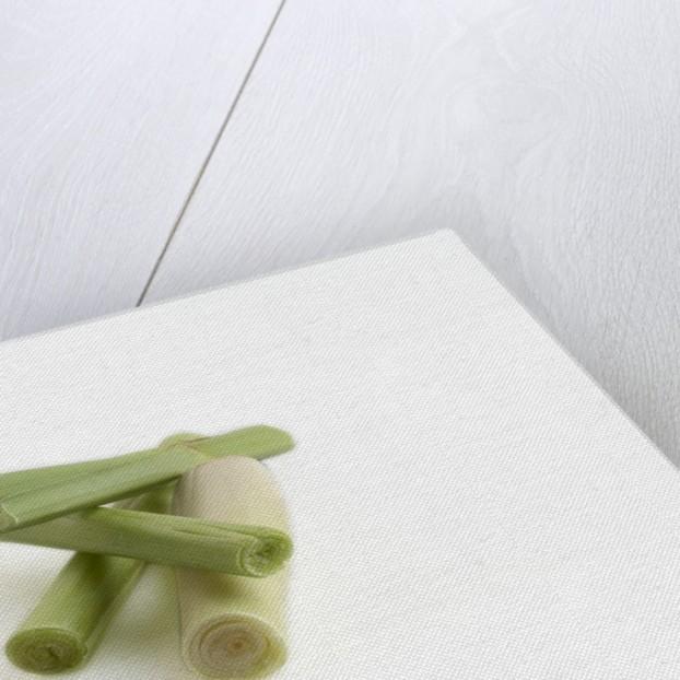 Sliced lemongrass by Corbis