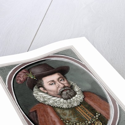 James VI and I (1566-1625). King of Scots as James VI and king of England and Ireland as James I. Co by Corbis
